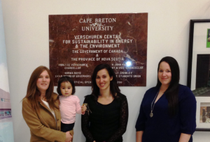 L-R (Dr. Margot Latimer, Juiliana Francis, Dr. Ashlee Cunsolo Willox, Julie Francis)